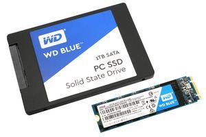 Die Western Digital Blue SSD gibt es als 2,5-Zoll- und M.2-Laufwerk, in beiden Fällen mit SATA-Interface.