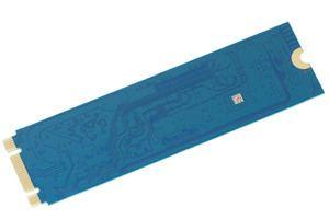 Die Rückseite der Western Digital Blue SSD im M.2-Format.