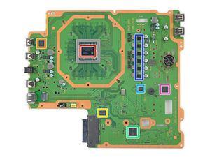 Logicboard der PlayStation 4 Pro mit Semi-Custom-SoC von AMD (rot)