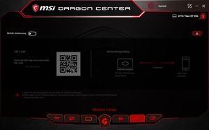 Die Software des MSI GT76 Titan DT 9SG