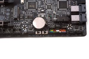 Der BIOS-Switch zum Umschalten zwischen den beiden ROMs und eine weiterer Schalter für das Single-BIOS-Feature.