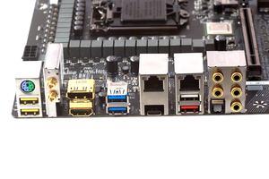 Das I/O-Panel beim Gigabyte GA-Z270X-Gaming 9.