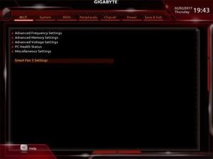 Der UEFI-Advanced-Mode beim Gigabyte GA-Z270X-Gaming 9.