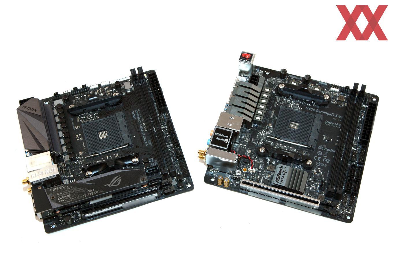 Mini-ITX-Duell: ASUS ROG Strix B450-I Gaming vs  ASRock
