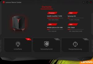 Software des Lenovo ideaCentre Y710 Cube