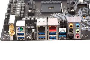 Das I/O-Panel beim ASRock X470 Taichi Ultimate im Überblick.