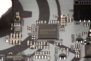 Die PCIe-2.0-Lanes wurden mit dem ASM1184e-Switch erweitert.