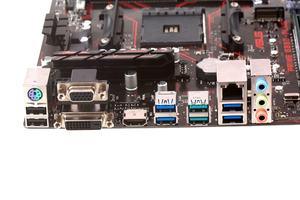 Das I/O-Panel beim ASUS Prime B350-Plus.