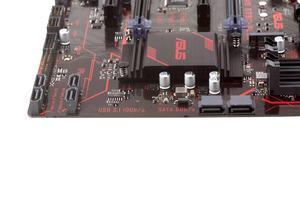 Sechsmal SATA 6GBit/s und einmal M.2 stehen bereit.