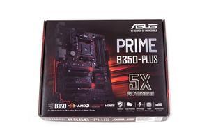 Die Verpackung vom ASUS Prime B350-Plus.