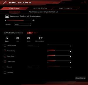 Die Software des ASUS G703