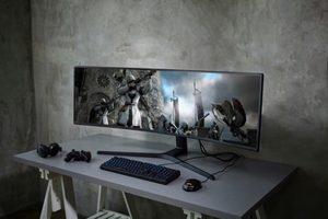 Hochauflösender Super Ultra-Wide 49 Zoll CRG9 Monitor für unterhaltsame Spielerlebnisse