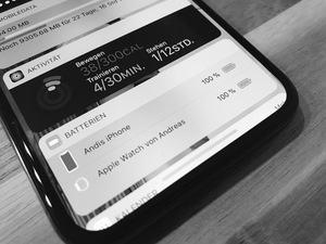 Akkuanzeige am iPhone X