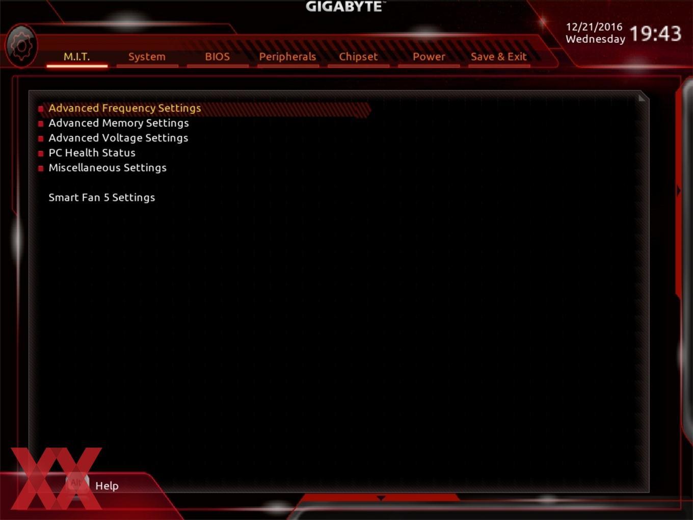 Der Advanced-Modus beim Gigabyte GA-Z270X-Gaming 7.