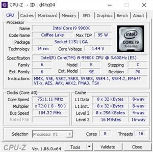 Intel Core i9-9900K erreicht 7,5 GHz auf einem Supermicro Mainboard