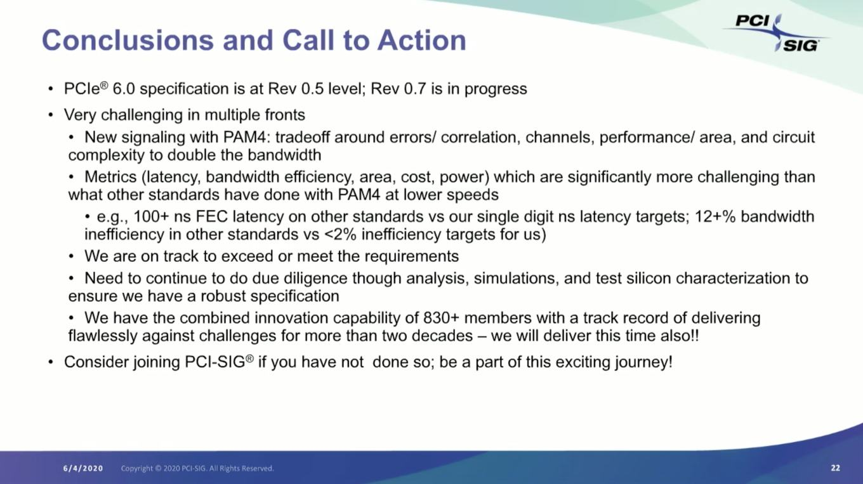 PCI-Express 6.0 Spezifikationen