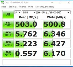 Seagate IronWolf Pro 16 TB Benchmark RAID0