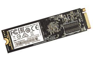 Die Rückseite der Corsair MP500 SSD ist ebenfalls bestückt.