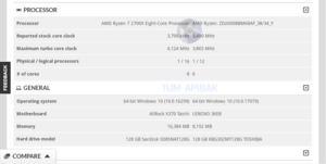 Technische Daten zum AMD Ryzen 7 2700X