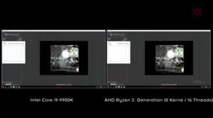 Demo-Vergleich zwischen AMD- und Intel-Prozessor