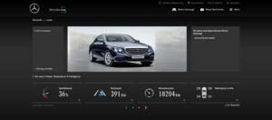 Über das Mercedes-me-Portal können alle wichtigen Fahrzeugdaten im Browser aufgerufen werden