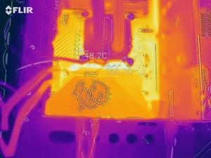 Wärmebild vom VRM-Bereich beim MSI MEG Z590 ACE