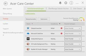 Die Software des Acer Aspire VX15