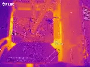Wärmebild vom VRM-Bereich beim MSI MPG Z590 CARBON EK X.