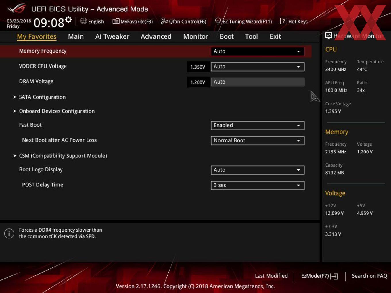 Die UEFI-Advanced-Ansicht beim ASUS ROG Strix X370-I Gaming