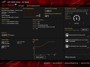 Die UEFI-EZ-Ansicht beim ASUS ROG Strix X370-I Gaming