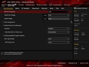 Die UEFI-Advanced-Ansicht beim ASUS ROG Strix X370-I Gaming