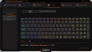 Die Software des Gigabyte AERO 15 OLED XD