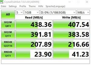 Die USB-3.2-Gen1-Performance über den ASMedia ASM1074