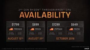AMD Pressedeck zur Ankündigung der 2. Generation der Ryzen-Threadripper-Prozessoren