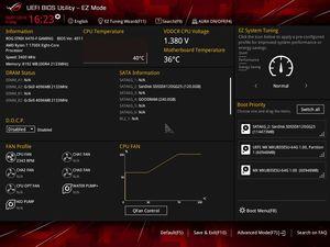 Die UEFI-EZ-Oberfläche beim ASUS ROG Strix X470-F Gaming