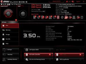 Der EZ-Mode beim MSI Z170A Gaming M6.