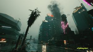 Cyberpunk 2077 mit Raytracing-Effekten