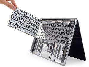 Silikon-Membran der neuen MacBook-Pro-Tastatur