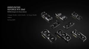 Ankündigung der GeForce RTX 3060 auf der CES 2021