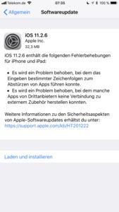 iOS 11.2.6 beseitigt den Telugu-Bug und Probleme mit Drittanbieter-Apps im Zusammenspielt mit Zubehör