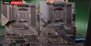 links: MSI MAG X570 TOMAHAWK WIFI; rechts: MSI MAG X570S TORPEDO MAX