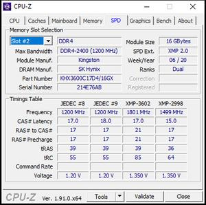 CPU-Z: SPD-Info