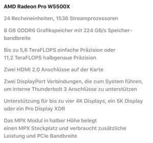 Radeon Pro W5500X im Mac Pro