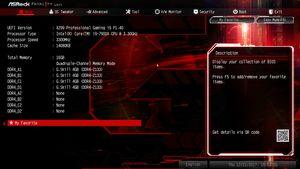 Die UEFI-Advanced-Ansicht beim ASRock Fatal1ty X299 Professional Gaming i9.