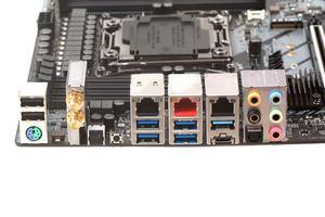 Das I/O-Panel beim ASRock Fatal1ty X299 Professional Gaming i9 in der Übersicht.
