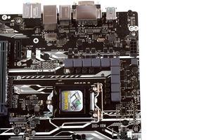 Für den CPU-VRM-Bereich stehen unter anderem zehn Spulen bereit.