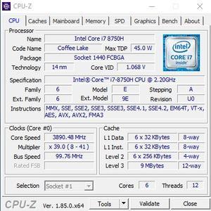 GPuz und CPUz des Gigabyte Sabre 17-W8