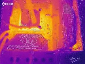 Wärmebild vom VRM-Bereich beim MSI MPG Z590 GAMING FORCE