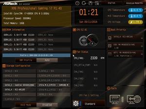 Der EZ-Mode beim ASRock X99 Professional Gaming i7.