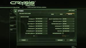 Crysis Remastered - Grafikmenü